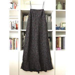 Gap floral sun dress, black, size 4